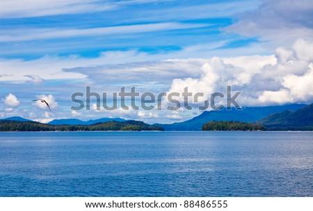 Remote Islands in the Gulf of Alaska Wilderness - stock photo
