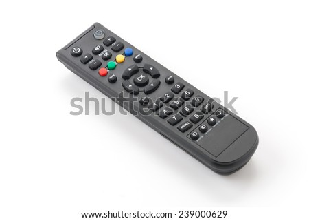remote isolated on white background - stock photo