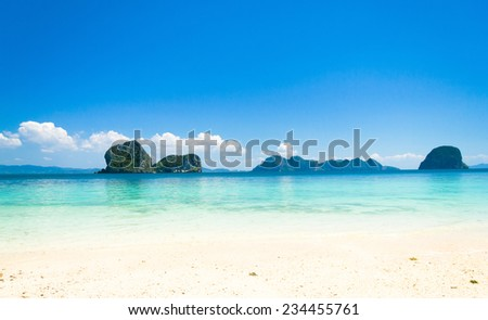 Remote Resort Paradise Wallpaper  - stock photo