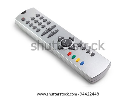 remote tv control access monitoring support isolated on white background - stock photo