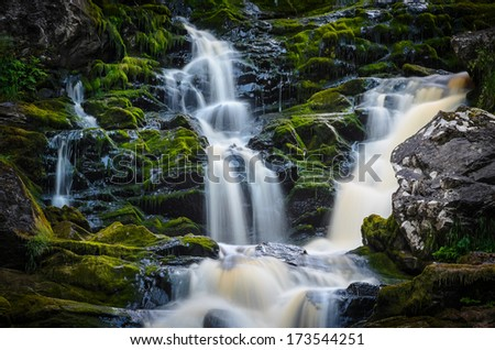 remote waterfall with a lot of cascades