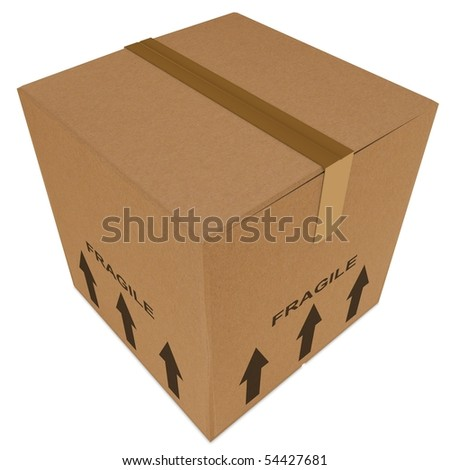 removal box isolated on white - stock photo