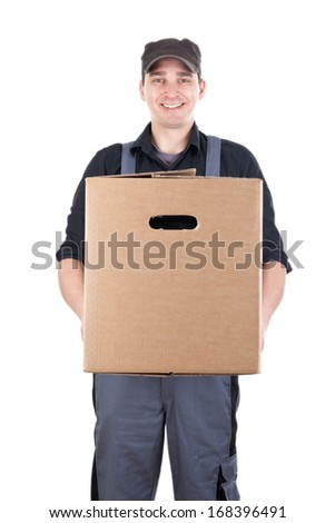 Removal man / Delivery man - stock photo