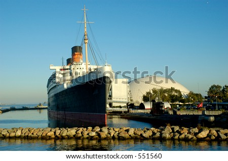 Removed from British registry and officially turned over ownership to the City of Long Beach in 1967 now serves as a tourist attraction and hotel. - stock photo