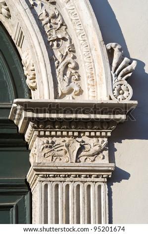 Renata di Francia Palace. Ferrara. Emilia-Romagna. Italy. - stock photo