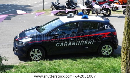 Renault Clio Italian Military Police 112 Stock Photo (Safe to Use ...