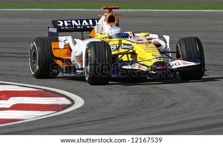 Renault's Spanish F1 driver Fernando Alonso - stock photo