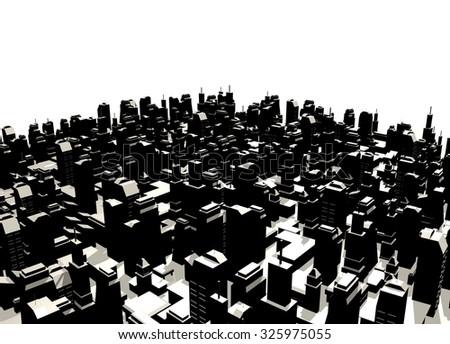 render city - stock photo