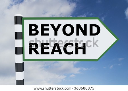 Render illustration of Beyond Reach title on road sign