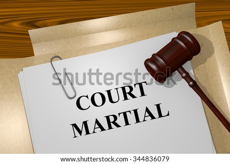 Render illustration of Court Martial Title On Legal Documents
