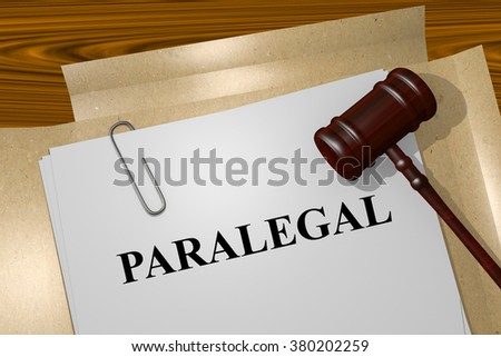 Render illustration of Paralegal title on Legal Documents