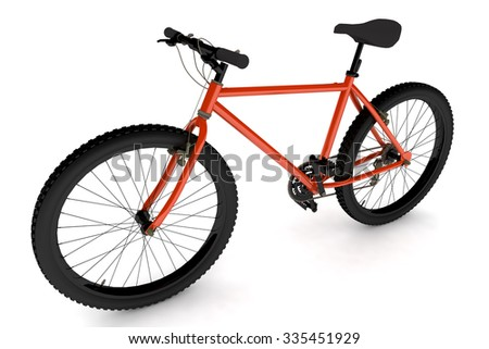 render isolated orange bike.