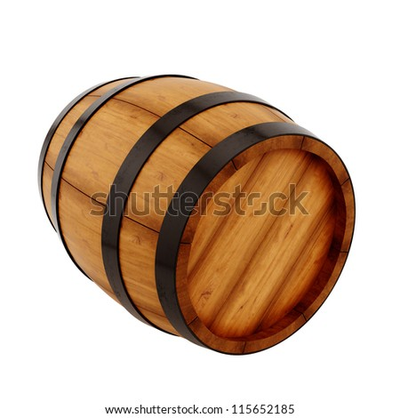 render of a barrel, isolated on white - stock photo