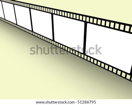 Render of a filmstrip with blank space for your own pictures