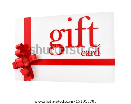 render of a gift card, isolated on white - stock photo