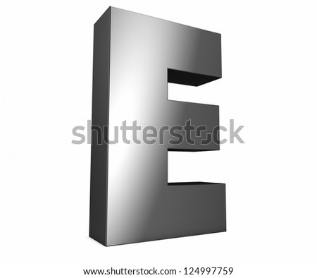 render of a metal e