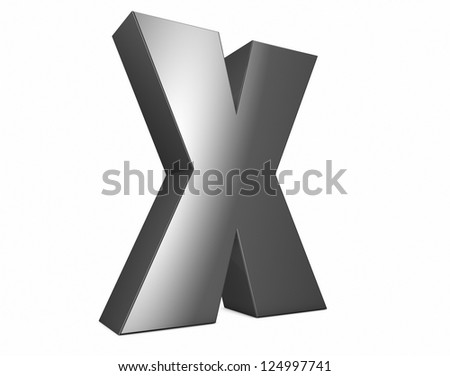 render of a metal x - stock photo
