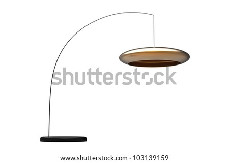 Render of a modern italian style lamp isolated on a white background - stock photo