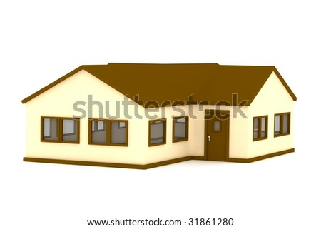 Render of a one floor house