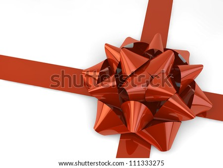 render of a red bow