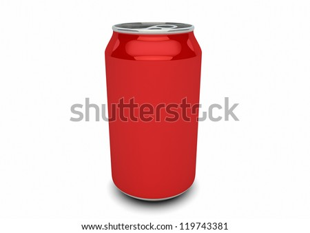 render of an empty red can