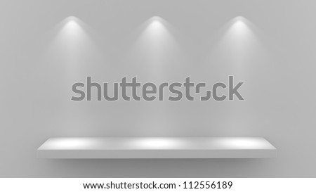 render of an empty shelf