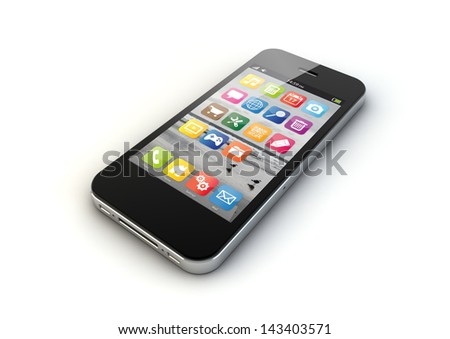 render of an smart phone - stock photo