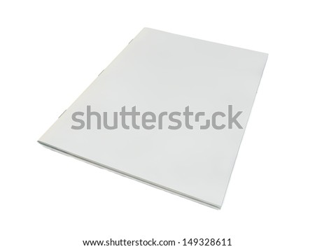 render of blank magazine cover - stock photo