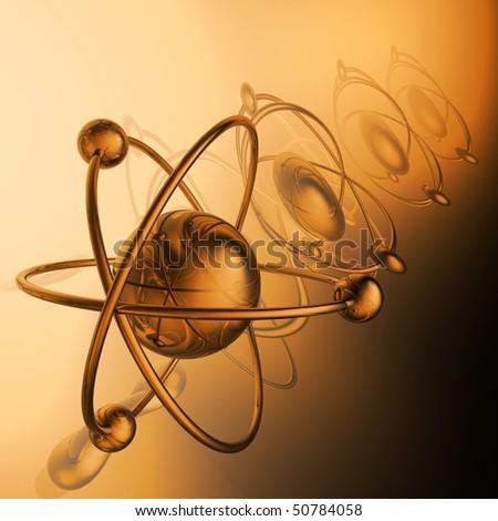 Render of molecule - stock photo