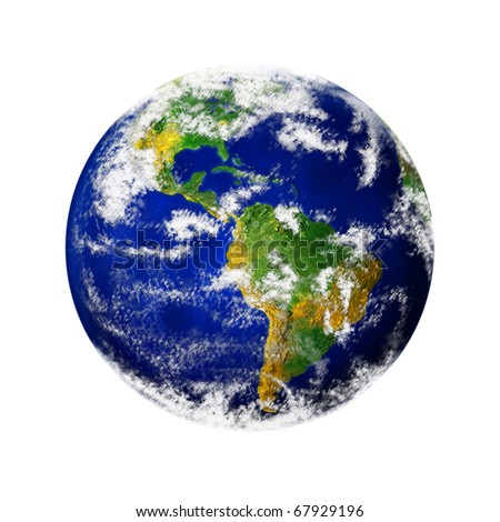 render of planet earth - stock photo