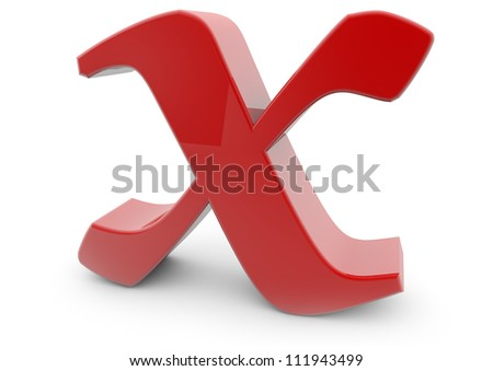 Render of the letter X