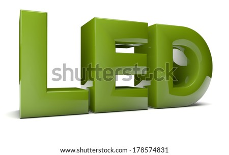 render of the text led - stock photo