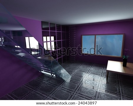 render room - stock photo