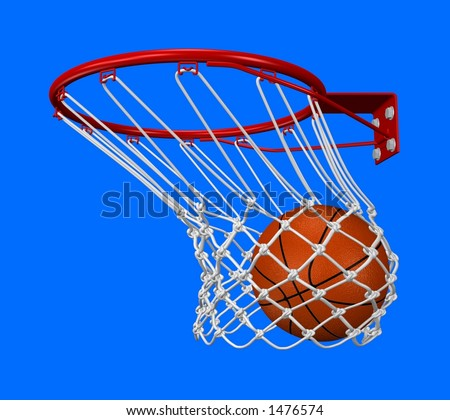 Rendered basket shot with adaptive background - stock photo