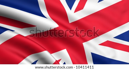 Rendered great britain flag - stock photo