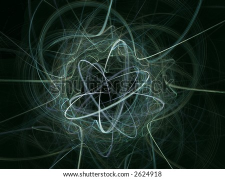 rendered illustration of an atom - stock photo