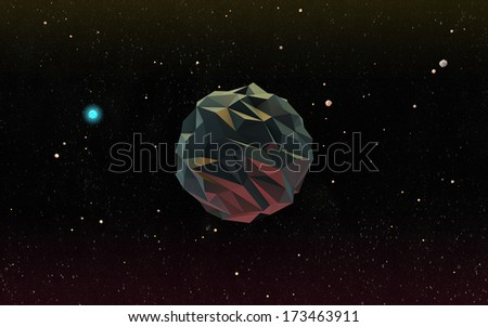Rendered Moon in Outer Space - stock photo