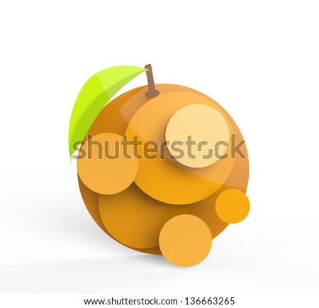Rendered orange in vector-look. Can be used as is or for pie charts or signage.