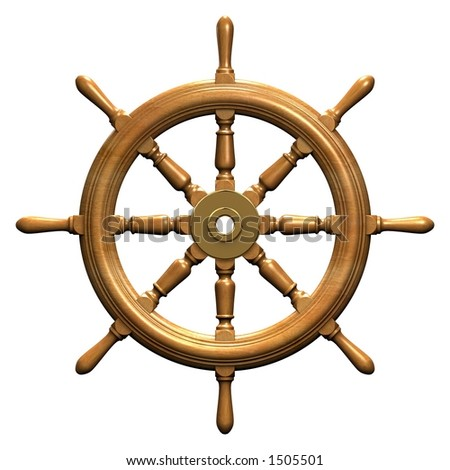 Rendered ships wheel