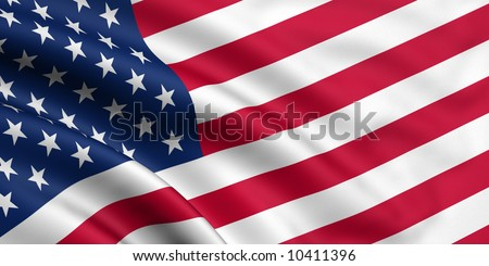 Rendered usa flag