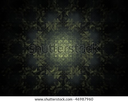 Rendering in soft light colors, kaleido pattern - stock photo