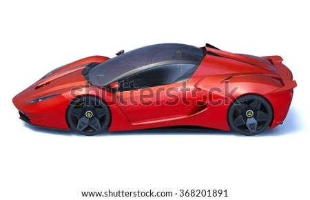 rendering of a brand less generic concept racing car in studio environment no trademark