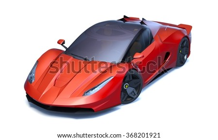 Rendering of a brand-less generic concept racing car in studio environment. No trademark issues as the car is my own design. The car does not exist in real life.  - stock photo