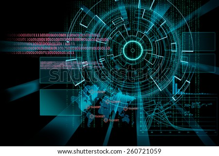 rendering of a futuristic cyber background target with laser light bright effect - stock photo
