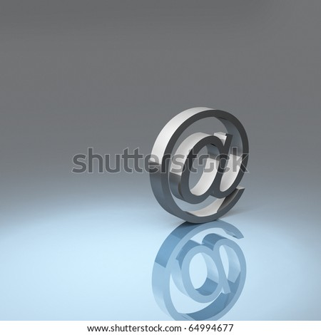 rendering of an at symbol - stock photo