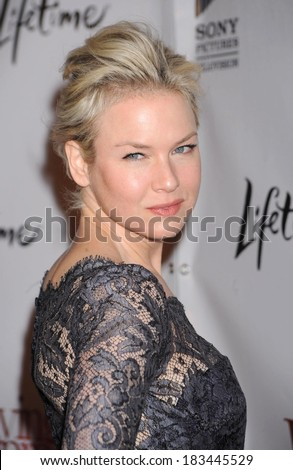 Renee Zellweger at Premiere of LIVING PROOF, Paris Theatre, New York, NY, September 24, 2008  - stock photo