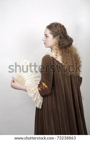 renesaince girl - stock photo