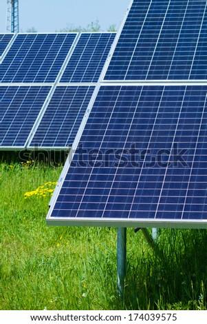 renewable, alternative solar energy, solar energy power plant - stock photo