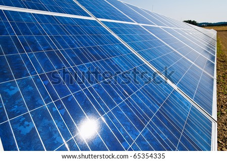Renewable, alternative solar energy. Solar energy power plant. - stock photo