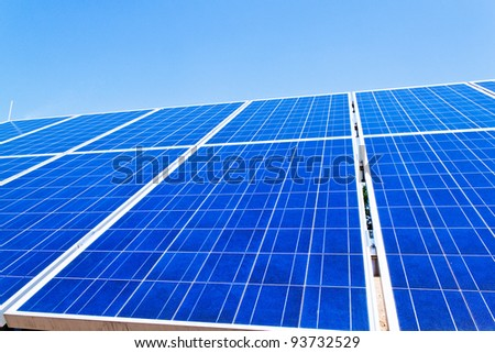 renewable, alternative solar energy. solar energy power plant. - stock photo